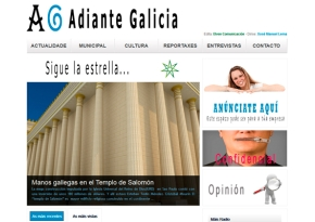 Página web Adiante Galicia