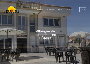 Página web Albergue Mar de Fora
