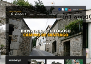 Página web Albergue O Logoso
