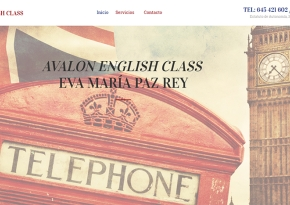 Página web Avalon English Class