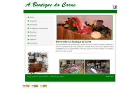 Página web Carnicería A Boutique da Carne