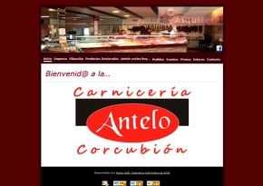Página web Carnicería Antelo