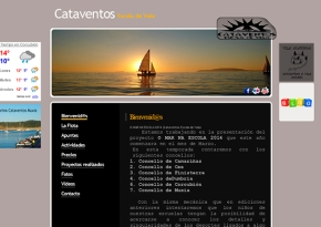 Página web Cataventos Escuela de vela