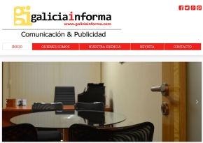 Página web Galicia Informa