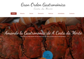 Página web Gran Orden Gastronómica Costa da Morte