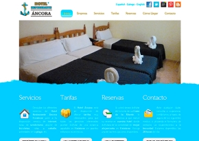 Página web Hotel - Restaurante Áncora